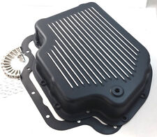 Black Finned Aluminum TH-400 TH400 Turbo 400 Transmission Trans Pan Chevy GM V8