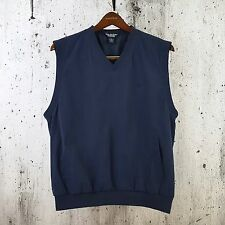 Brooks Brothers Country Club Navy Microfiber Pullover Golf Wind Vest Men's Sz M