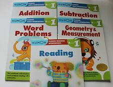 KUMON Workbooks Grade 1 Set: Math + Reading  (5 books) --FREE Expedited Shipping