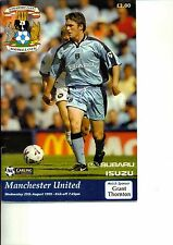 Coventry City v Manchester United 1999/00 Premiership