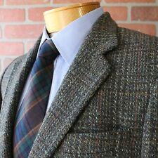 Dunn & Co Gray Green Red Harris Tweed Blazer Sportcoat Great Britain Wool 40R
