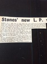 65-4 Ephemera 1966 Article Rolling Stone New Lp Review Aftermath