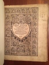 RARE 1599 Geneva BIBLE, New Testament w/ Book of Psalms, London, Genealogy notes