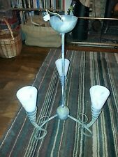 Art deco style 3 arm ceiling lamp with glass shades
