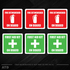 "2"" Fire Extinguisher  First Aid Kit sticker vehicle emergency decals  label x6"