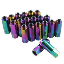 20PC NEO CHROME JDMSPEED EXTENDED FORGED ALUMINUM TUNER RACING LUG NUT FOR FORD