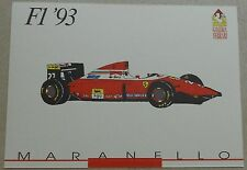 Galleria Ferrari 1993 f1 1993 SCHEDA CARD NO brochure prospetto book libro Press
