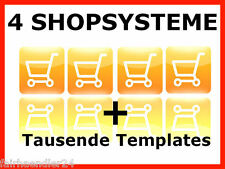 ✰ 4x Webshop Shopsystem Online Shop Onlineshop Shopsoftware Web Projekt E-LIZENZ