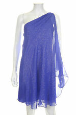 Halston Heritage Swing Asymmetric Cocktail Dress / Purple / RRP: £375.00
