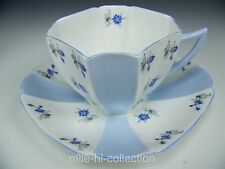 "SHELLEY ""CHARM"" BLUE & WHITE TEA CUP AND SAUCER  TEACUP"