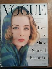 ***VINTAGE VOGUE MAGAZINE May 1955 Irving Penn cover