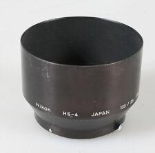 NIKON HS-4 METAL LENS HOOD FOR NIKON 105MM F/2.5 135MM F/3.5 105MM F/4 #1425