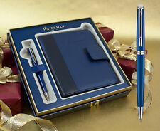 Waterman Hemisphere Ballpoint Pen - Blue Obsession Chrome Trim Gift Set