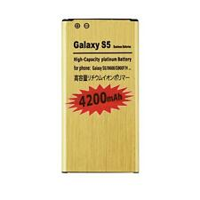 New 4200mAh Gold Battery for Samsung Galaxy S5 i9600 G900A G900T G870A