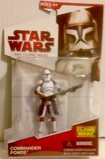 "Star Wars The Clone Wars RARE COMMANDER PONDS Action Figure  3.75"" Tall"