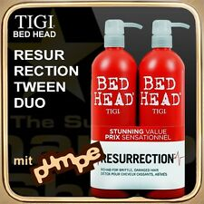 RESURRECTION Shampoo Conditioner (2x750ml) BED HEAD TIGI Tween Duo (mit Pumpe)