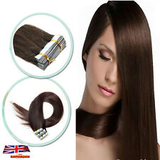 """16""""18""""20""""22""""24"""" Tape In Real Remy Human Hair Extensions Straight Brazilian Hair"""