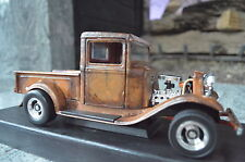 1:18 1934 Ford Barn Find Shop Pro Street Truck Unrestored RAT ROD Patina Diecast