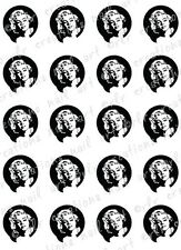 20 NAIL DECALS *MARILYN MONROE SILHOUETTE* WATER SLIDE NAIL DECALS NAIL ART