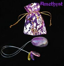 Medium Amethyst Egg on String Yoni Pelvic Muscle Kegel  Tightening Ben Wa jade