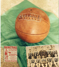 1915  Old  Antique Style Leather Basketball - Naismith Style Distresed tan