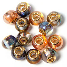 100pcs Wholesale Golden Core Lampwork Glass Bead Fit European Charms Bracelet