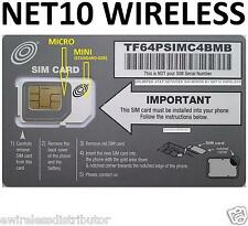 Net10 MICRO SIM CARD UNLIMITED EVERYTHING $35 Mo AT&T Network WITHOUT CONTRACT %