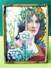 Bilderrahmen, Jugendstil,Standrahmen mit Aufhängung,Fotorahmen,gewölbtes Glas