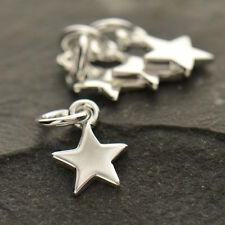 Star Charm 925 Sterling Silver Small Tiny for Necklace Women UK Free Shipping