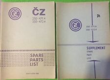 CZ 250 350 Sport Type 471 472 Parts List. 1980 Issue with Supplement.