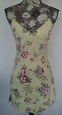 Women's Rampage Yellow Floral Sleeveless Dress Sundress Sz 7 Medium