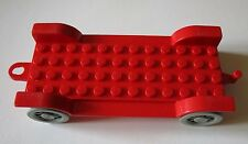 Lego Fabuland 4362acx1 Car Chassis 12 x 6 Old Rouge Red du 3637 3624 3670 3627