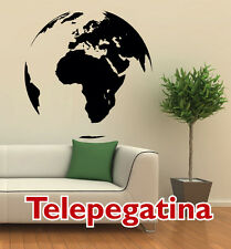 VINILO DECORATIVO PARED MAPA MUNDIAL 65x65 MAPAMUNDI WORLD MAP WALL STICKER