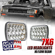 FOR FORD! 7X6 H6054 H6052 H6014 45W CHROME 2500LM HIGH LOW BEAM LED HEADLIGHTS