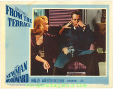 FROM THE TERRACE LOBBY CARD size 11x14 MOVIE POSTER 3 Card's PAUL NEWMAN 1960