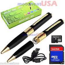 16GB Hidden Spy Rec Pen Cam Camera Nanny DVR Video Recorder Mini Spy Pen Cam NEW