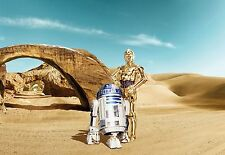 Giant Wall mural photo Wallpaper 366x254cm Star Wars Lost Droids