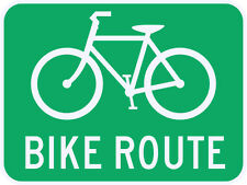 3M Reflective Bike Route Guide Sign Street Road Bicycle Lane Path - 24 x 18