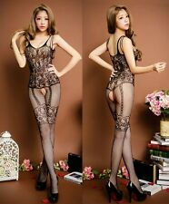 SEXXXY Selebritee High Quality Floral & Suspenders Pattern Bodystocking, UK 6-14