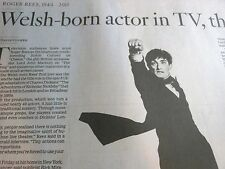 1944-2015 ROGER REES OBITUARY WELSH BORN ACTOR IN TV THEATER
