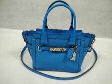 NWT Coach Swagger 21 Carryall in Pebble Leather 37444 Azure