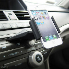 Universal Adjustable CD Player Slot Smartphone Mobile Phone Car Mount Holder New