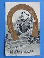 Patriotische Postkarte Kavallerie Ulan