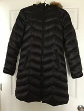 BEAUTIFUL DL2 by Dawn Levy Fur Trimmed Hood Down Puffer Black Coat $400+ size S