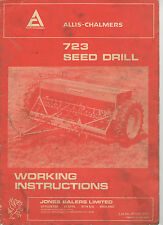 ALLIS CHALMERS 723 SEED DRILL OPERATORS MANUAL