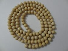 MONGOLIA MONGOLIAN BUDDHIST 108  BONE BEADS FOR MANI/PRAYER  BEADS MALA
