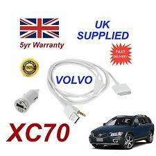 VOLVO XC70 For Apple iPhone 3gs 4 4s iPod Audio Cable & 1.0A Power Adapter w