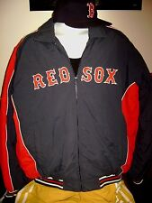 MENS LRG-BOSTON RED SOX MLB JACKET + 59 FIFTY RED SOX -BASEBALL CAP!  PTRIOTS