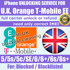 Unlock service T-Mobile Orange EE UK iPhone SE 6s 6+ 6 5s 5c 5 Premium Blacklist