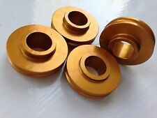 5mm  Radial caliper spacers. Set of 4 Gold CBR GSXR ZX6R ZX10R R1 R6
